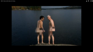 rick mercer and bob rae skinny dip